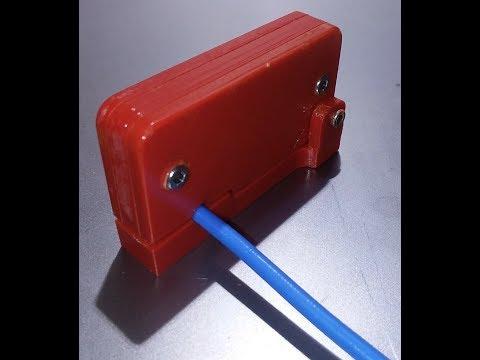 3D Printed RG402 Coax Insulation Stripper