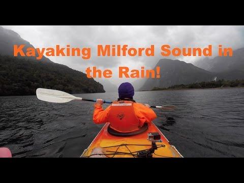 Kayaking Milford Sound in the Rain