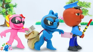 It Takes A Thief to Catch A Thief - Stop Motion Animation Cartoons