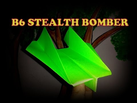 How to make paper airplane- Stealth Bomber? easy & fast.