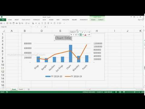 How to Create Combo Chart Clustered Column Line on Secondary Axis in MS Excel 2013