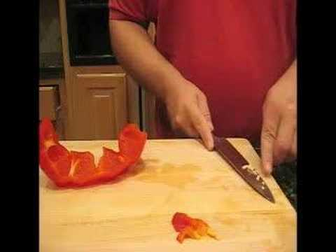 Cutting A Bell Pepper