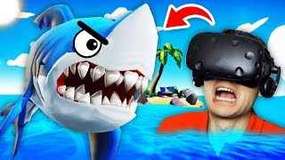 NEW Killing The FLYING SHARK On REMOTE ISLAND (Island Time VR Funny Gameplay)