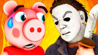 Piggy vs Michael Myers (Roblox Peppa Pig Halloween Horror 3D Animation Animated Parody Challenge)