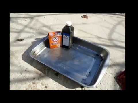 Baking soda and peroxide as a metal cleaner