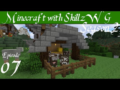 Cow Farm Barn - Minecraft 1.8 Vanilla Let's Play with SkillzWG :: Episode 07