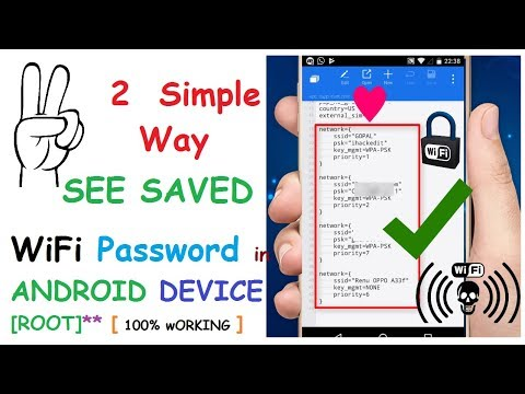 Best Way To See Saved WiFi Password On Android Device [Rooted] | ES File Explorer, Password viewer