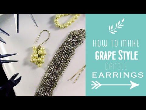 How to Make Grape Style Dangle Earrings