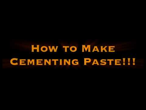 How to Make Cementing Paste
