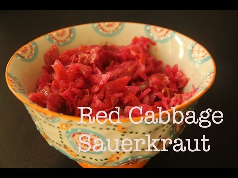 Red Cabbage Sauerkraut | How To Make Fermented Red Cabbage