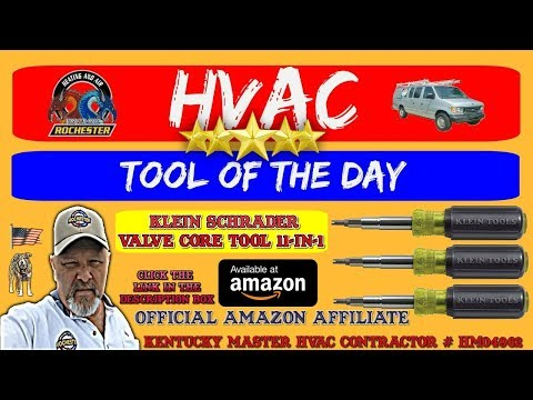 Klein Tools 32527 Schrader Valve Core Tool 11 in 1: HVAC Tool of the Day