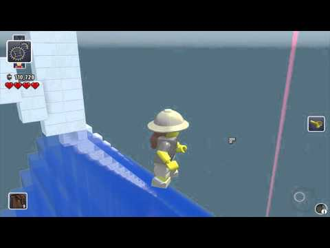 Lego Worlds - Sky Diving from the Bank of China Tower Hong Kong