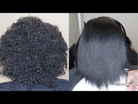 Silk Press on 3c Natural Hair #SalonWork