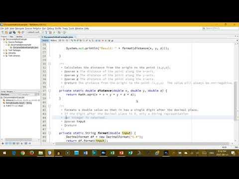 Documentation in Java