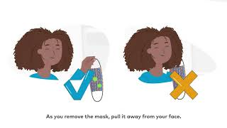 How to wear a fabric mask safely