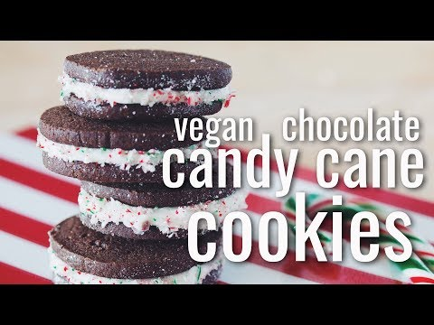 VEGAN CHOCOLATE CANDY CANE COOKIES (Kin Community Cookie Collab) | hot for food