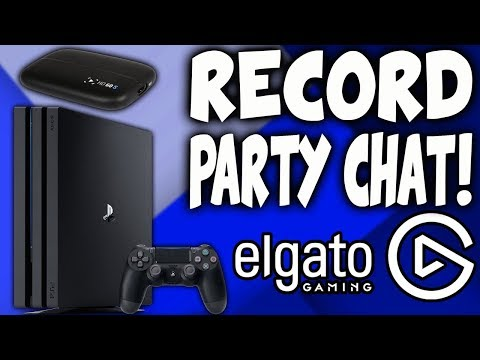 How to Record Party Chat and Mic on the PS4 Using the Elgato Game Capture HD! (EASY)
