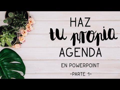 Crea tu propia AGENDA en PowerPoint - Parte 1-   El ático de Tijeras