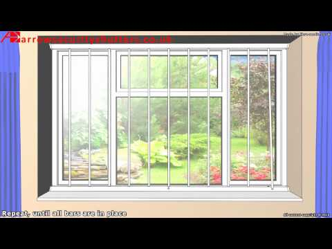 Removable Security Window Bars, window grilles