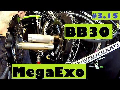 BB30 vs. MegaExo bottom bracket / crankset - HUGE difference for your bike!