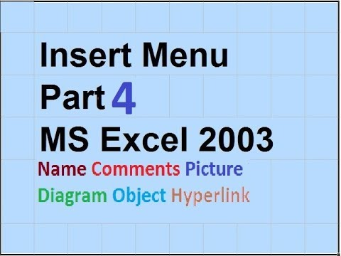 15- How to Use The Insert Menu In Ms Excel 2003 - in Urdu/Hindi - Part 4- Lunar Computer College