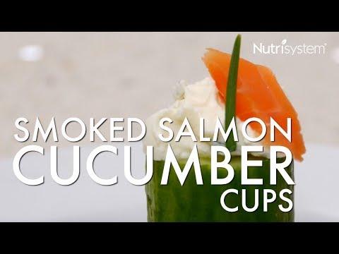 Smoked Salmon Cucumber Cups Recipe