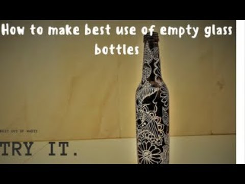 DIY | Empty Beer Bottle | Best Out Of Waste | What to do with empty Bottle