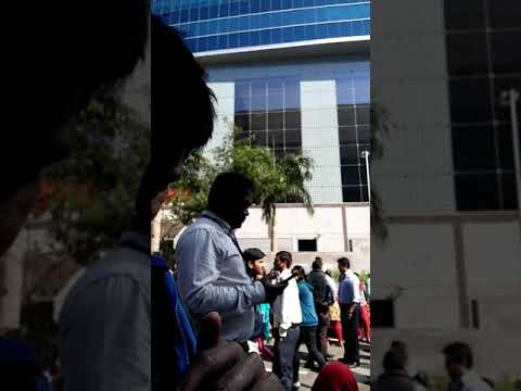 Emergency announcement fire drill in icici bank