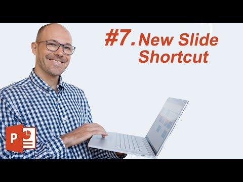#7: The New Slide Shortcut (Microsoft PowerPoint Shortcuts)