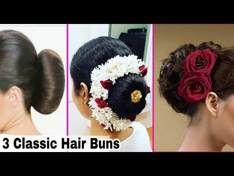 3 Simple Hair Buns | Hair style for short long & medium hair | Hairstyles at Home | Ishita Chanda