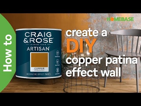 How to create a DIY copper patina effect wall | Craig & Rose Paint | Homebase