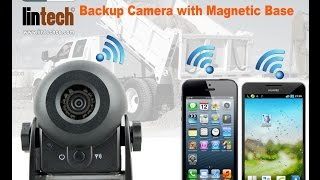 Portable WiFi Car Trucks Backup Camera with Magnetic Base and Battery