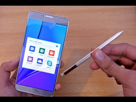 Samsung Galaxy Note 5 - Microsoft Excel, PowerPoint & Word Review (S Pen)