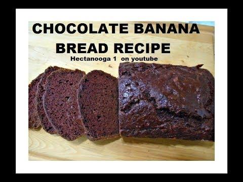 Chocolate banana bread recipe, vegan