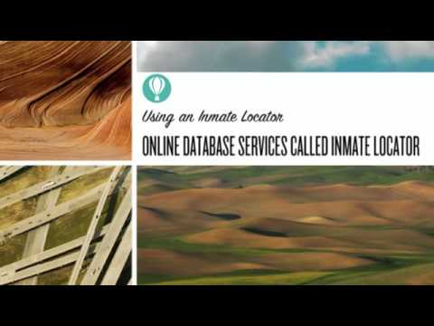 Using an Inmate Locator