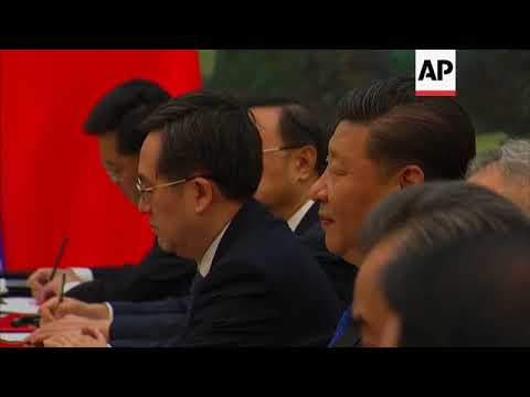 UN chief welcomed by China's president and PM in Beijing