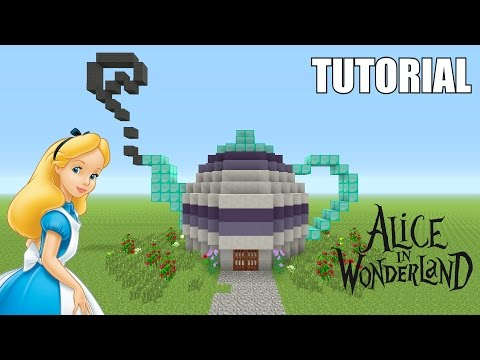 Minecraft Tutorial: How To Make A ALICE IN WONDERLAND Inspired!! TEAPOT!! (Survival House