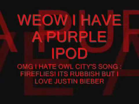 Video response to ipod, haters and justin bieber by sarniagerry
