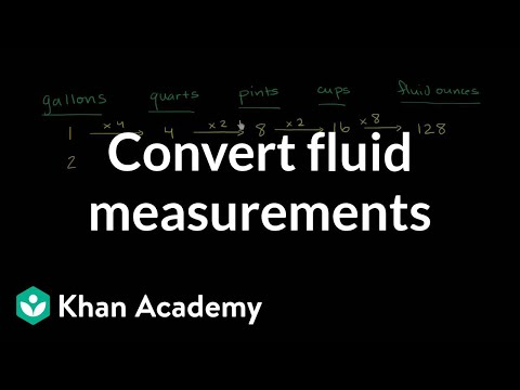 How to convert gallons to quarts, quarts to pints, pints to cups, and cups to ounces | Khan Academy