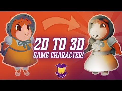 Creating a 3D Game Character From Start to Finish!