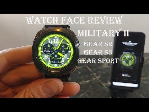 Watch Face Review : Military II Re-imagined Gear S2 Gear S3 Gear Sport
