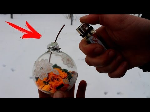 HOW TO MAKE SMOKE BOMB FROM CHRISTMAS DECORATIONS