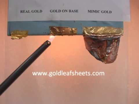 how to test real gold leaf sheets