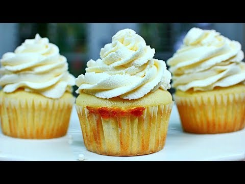 SUPER MOIST Vanilla Cupcakes Recipe - How to make the BEST Vanilla Cupcakes