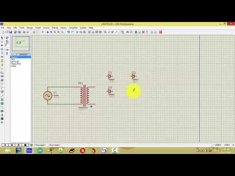 Convert AC 220v to DC 12v Circuit Simulate in Proteus