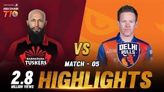 Match 5 I Karnataka Tuskers vs Delhi Bulls I Day 2  I Aldar Properties Abu Dhabi T10 I Season 3