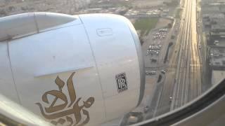 Emirates Boeing 777-300 RR Trent 800 landing on Dubai International Airport, Dubai (DXB)