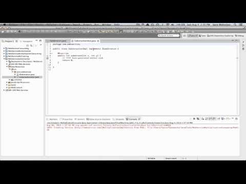 WSDL example publishing on Ecplise using Apache CXF 2.X