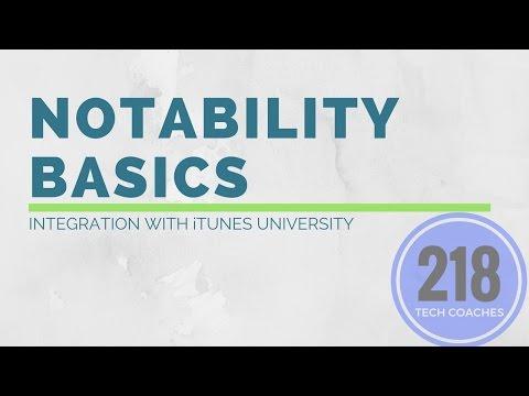 Notability Basics: Integration with iTunes U
