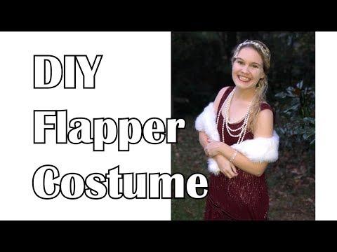 DIY Super Easy 1920's Flapper Dress Costume  II DUCKINYELLOW
